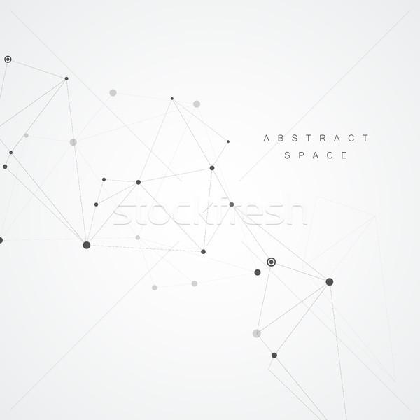 Abstrato moléculas conectar projeto tecnologia estrutura Foto stock © designleo