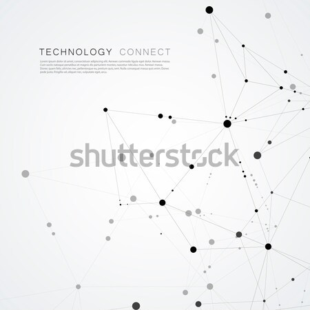 Technologie abstract lijn vector meetkundig illustratie Stockfoto © designleo