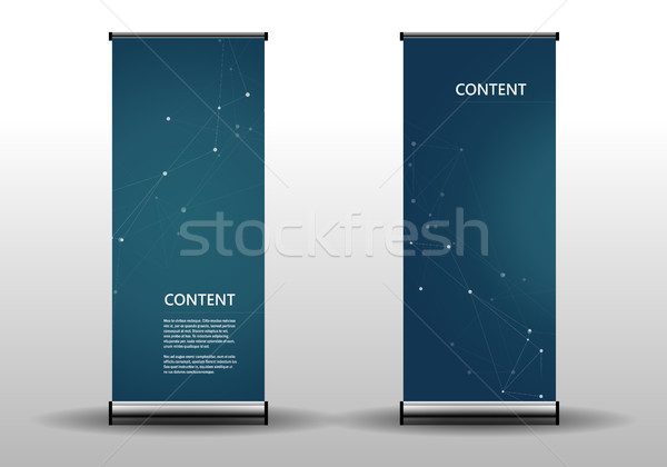 Roll up template for presentation and publication. Abstract connect and molecular structure Stock photo © designleo