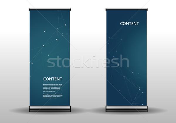 Toczyć w górę szablon prezentacji publikacja streszczenie Zdjęcia stock © designleo