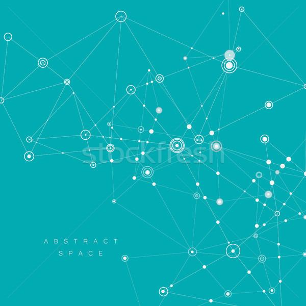 Conectar baixo abstrato textura projeto espaço Foto stock © designleo