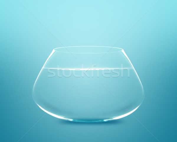 Stock photo: Empty fishbowl
