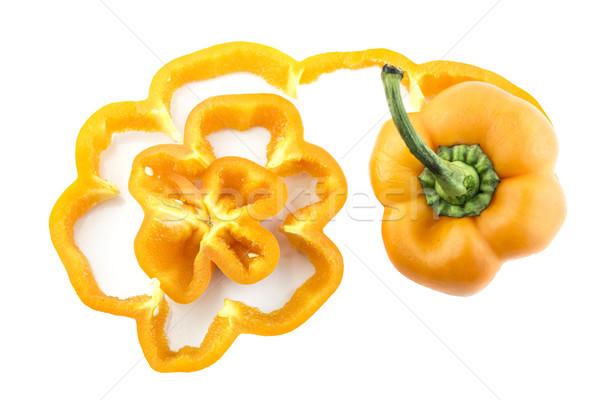 édes paprika narancs fehér étel természet Stock fotó © designsstock