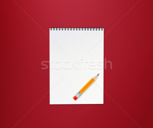 Portable crayon faible jaune gomme rouge Photo stock © designsstock