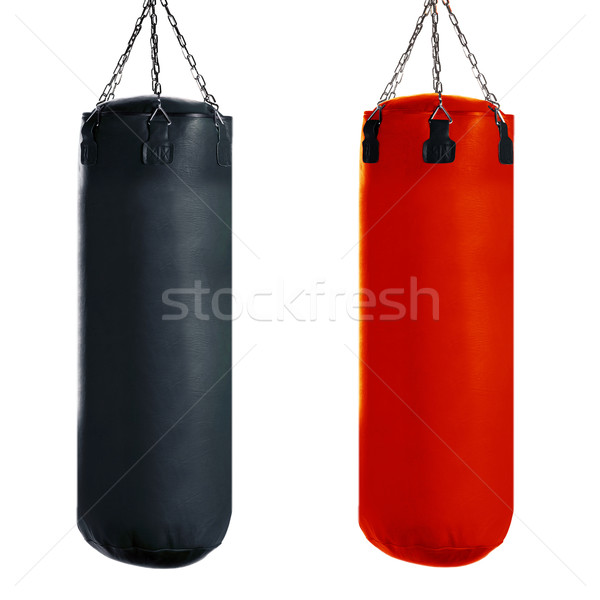 Homokzsák box rúgás sport izolált fehér Stock fotó © designsstock