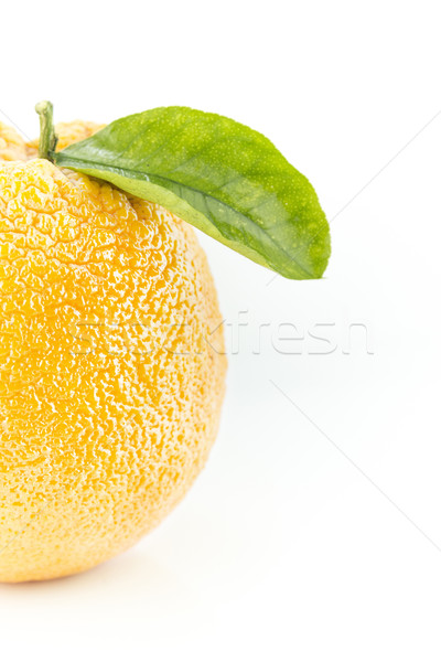 Sweet Orange Fruit with leaves Stock photo © designsstock