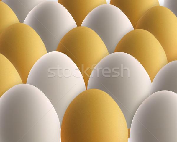 set of golden and white eggs Stock photo © designsstock