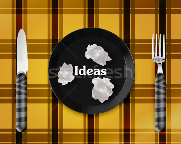 Empty Plate with knife and fork Stock photo © designsstock