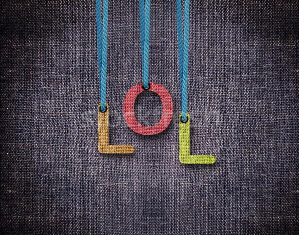 文字 絞首刑 笑 青 背景 手紙 ストックフォト © designsstock