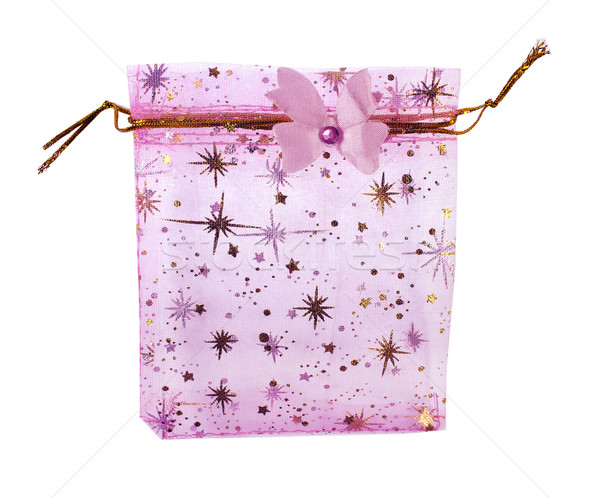 Kislány szuvenír kicsi rózsaszín műanyag táska Stock fotó © designsstock