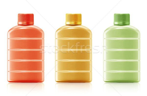 Shampooing bouteille main cheveux antibiotique gel Photo stock © designsstock