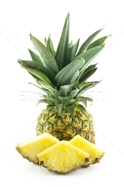 Ananas tranches isolé blanche alimentaire Photo stock © designsstock
