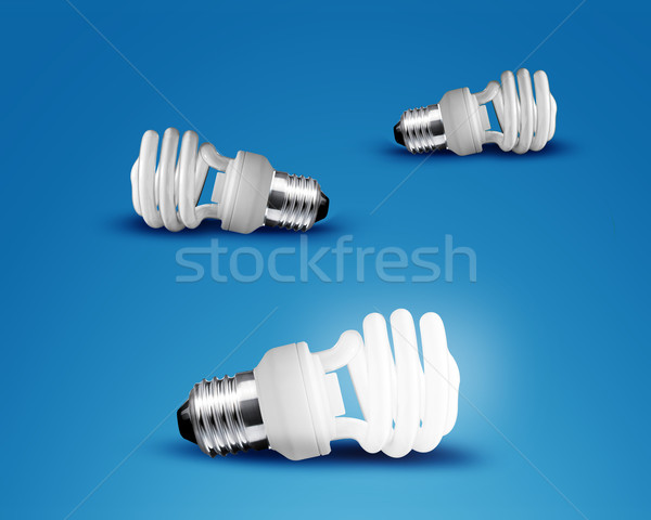 Tre idea blu business Foto d'archivio © designsstock