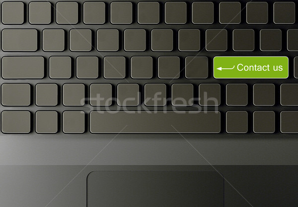 Billentyűzet kapcsolatfelvétel gomb üzlet számítógép internet Stock fotó © designsstock