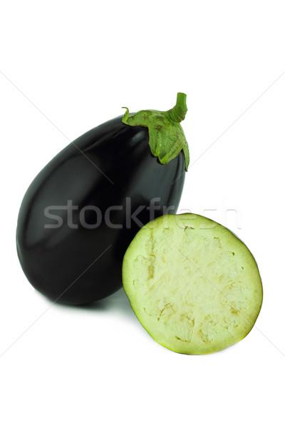 Fresche melanzane melanzane vegetali bianco verde Foto d'archivio © designsstock