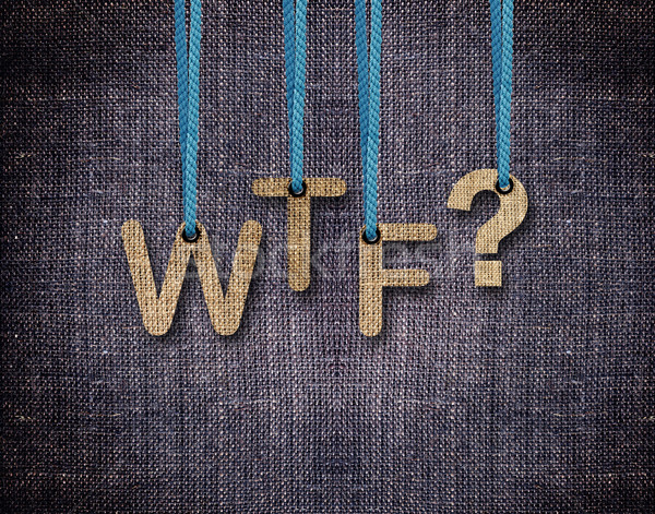 Letters hanging strings Stock photo © designsstock