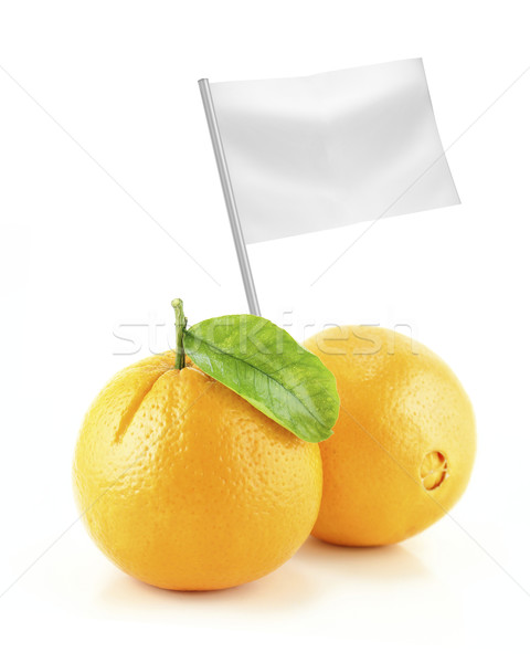 Saudável alimentos orgânicos fresco laranja bandeira Foto stock © designsstock