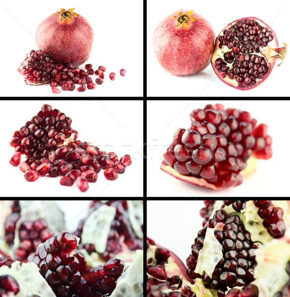 Sağlıklı organik gıda ayarlamak taze olgun nar Stok fotoğraf © designsstock