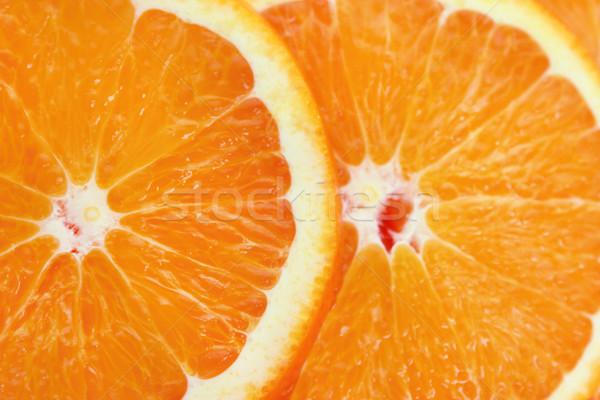 Narancs szeletek édes étel levél gyümölcs Stock fotó © designsstock
