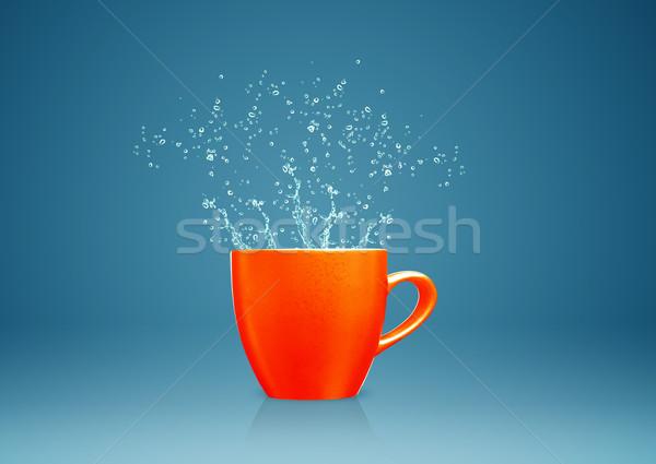 mug with water splashes Stock photo © designsstock