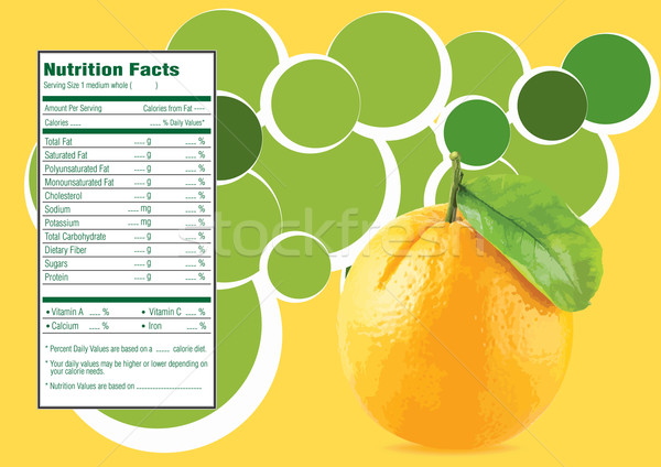 Narancs szép terv étel gyümölcs asztal Stock fotó © designsstock