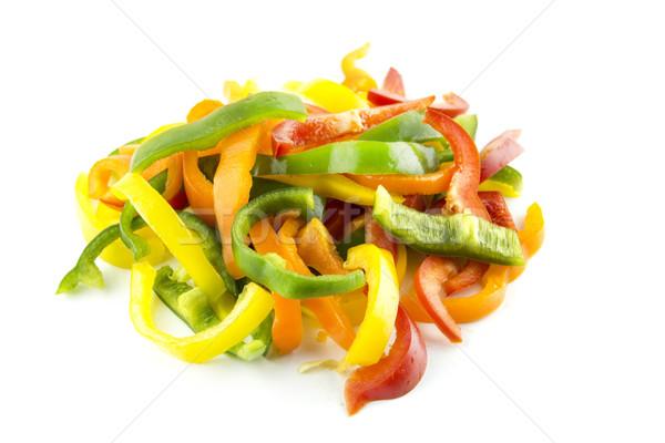 sliced of colorful sweet bell pepper Stock photo © designsstock