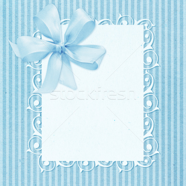 Baby boy arrival card Stock photo © designsstock