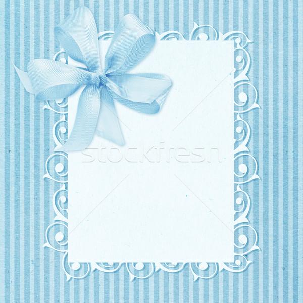 Baby jongen aankomst kaart exemplaar ruimte ontwerp Stockfoto © designsstock