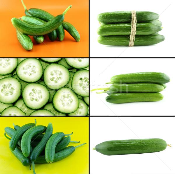 Sağlıklı organik gıda ayarlamak taze salatalık doğa Stok fotoğraf © designsstock