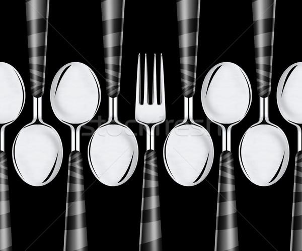 Forcella isolato nero alimentare cena Foto d'archivio © designsstock