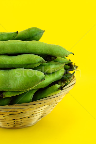 broad bean pods and beans Stock photo © designsstock