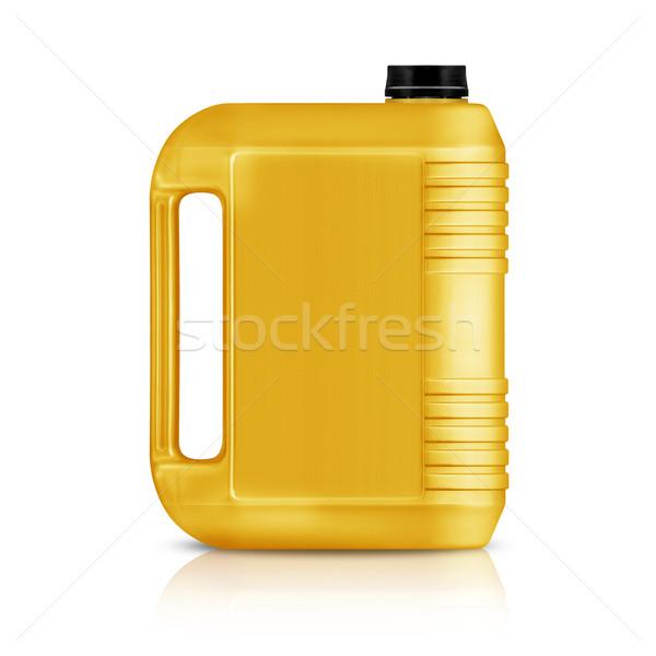 пластиковых галлон желтый можете изолированный белый Сток-фото © designsstock