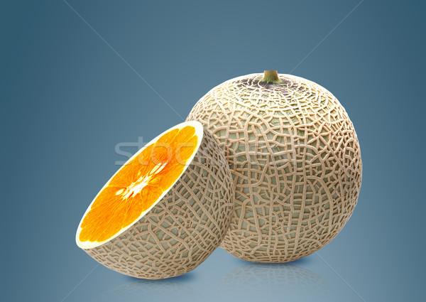 Melon and Orange inside Stock photo © designsstock