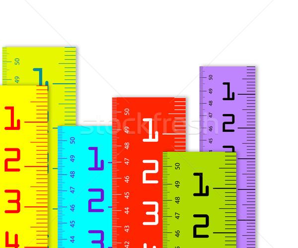 Millimètre inch coloré isolé blanche bois Photo stock © designsstock