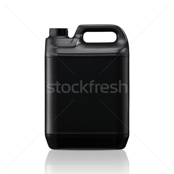 пластиковых галлон черный можете изолированный белый Сток-фото © designsstock