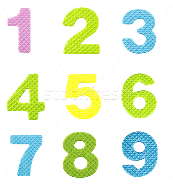 Numbers from one to nine Stock photo © designsstock