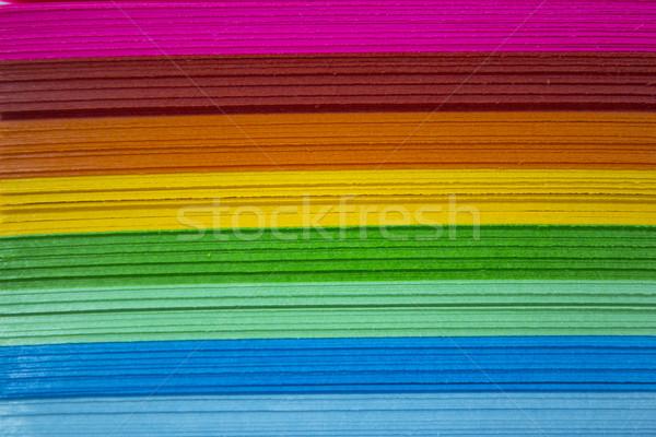 カラフル 紙 孤立した 白 オフィス 抽象的な ストックフォト © designsstock