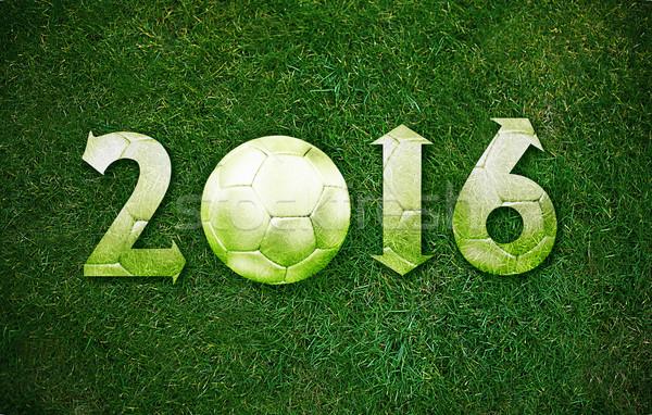 Mutlu yeni spor yıl 2016 futbol Stok fotoğraf © designsstock