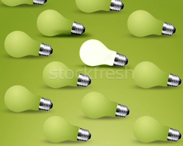one glowing Light bulb Stock photo © designsstock