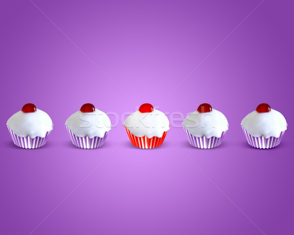 special attractive red muffin cake Stock photo © designsstock