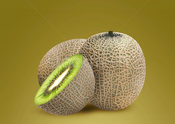 Melon and kiwi inside Stock photo © designsstock