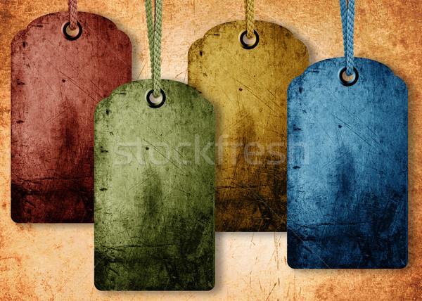 grunge price tag Stock photo © designsstock