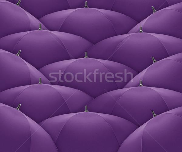 Esernyő narancs kitűnik a tömegből tömeg egyéniség egyedi Stock fotó © designsstock