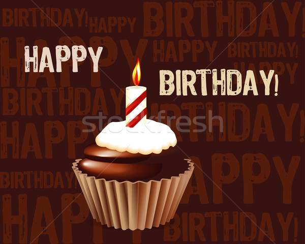 Birthday cupcake Greeting card  Stock photo © designsstock