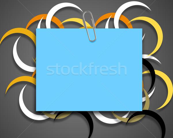 Briefpapier Briefbogen Büroklammer farbenreich Büro Hintergrund Stock foto © designsstock
