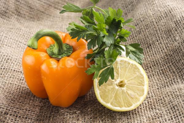 オレンジ 甘い 唐辛子 パセリ レモン 食品 ストックフォト © designsstock
