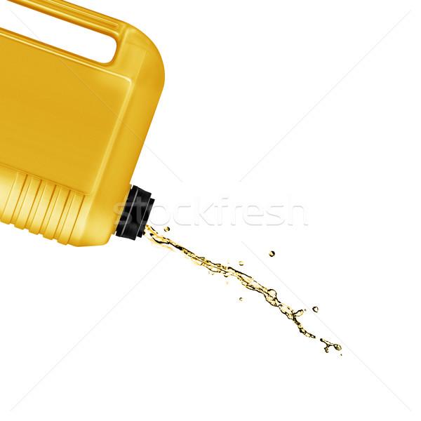 Plastik galon can sıçrama yalıtılmış Stok fotoğraf © designsstock