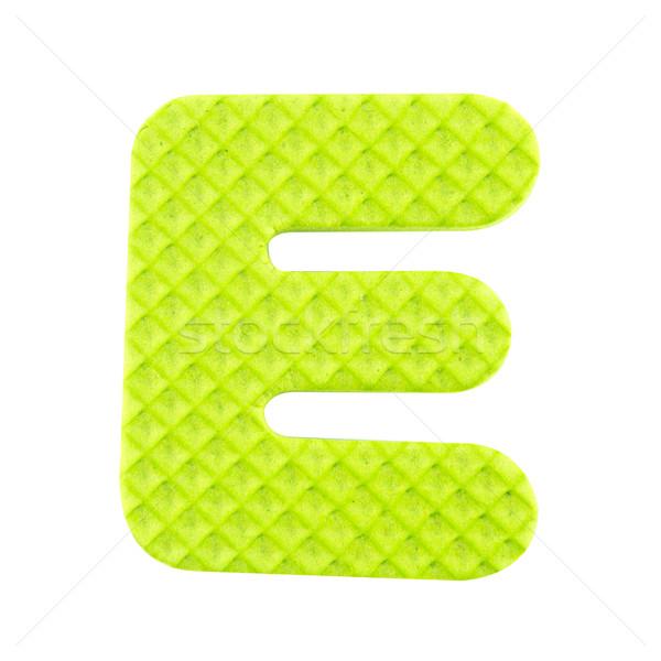 Stock photo: E letter isolated on white background.