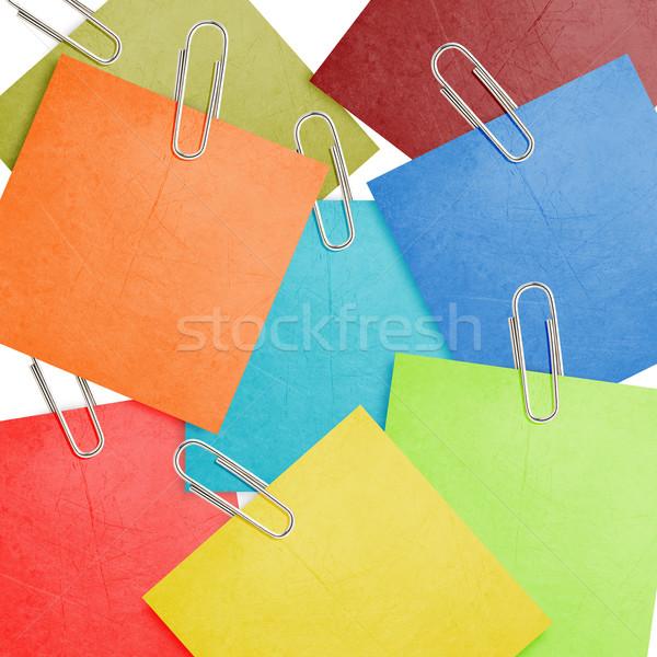Schrijfpapier nota papieren papier kantoor achtergrond Stockfoto © designsstock