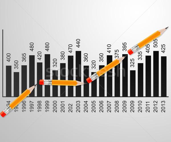 Pencil line graph Stock photo © designsstock